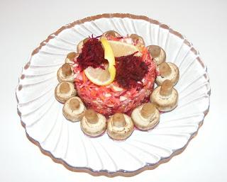 Ciuperci cu salata de cruditati retete culinare,