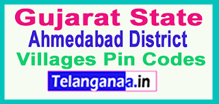 Ahmadabad District Pin Codes in Gujarat State