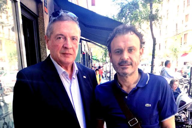 Julián Celaya (izquierda) junto a Unai Ortúzar