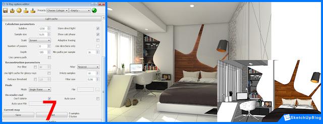 Contoh Cara Setting Vray SketchUp Interior