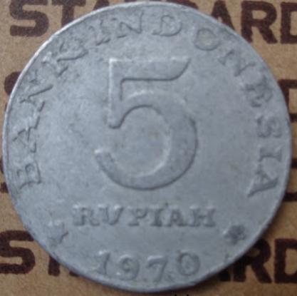 Uang Logam 5 Rupiah Tahun Emisi 1970