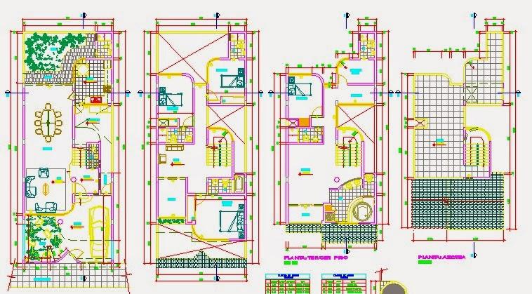 Descargar planos en autocad dwg plano de vivienda - Planos de viviendas ...