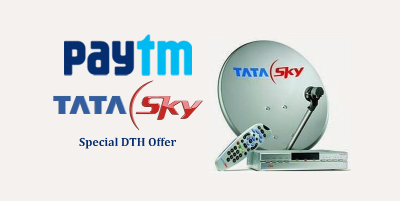 Paytm TataSky DTH Recharge Offer: Get Rs.60 Cashback for All Users