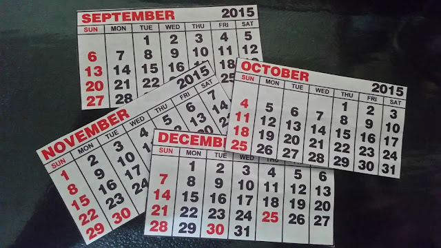 The last four calendar months of the year