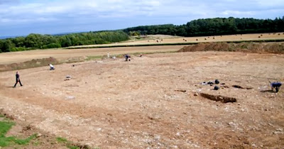 Iron Age camp unearthed at UK quarry
