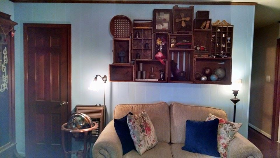 How To Decorate With Antique Wood Boxes Gwin Gal Inside And Out