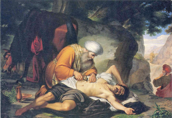 The good samaritan by Giacomo Conti, Macabre Paintings, Horror Paintings, Freak Art, Freak Paintings, Horror Picture, Terror Pictures