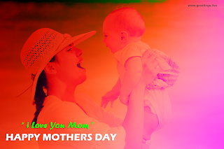 happy mother holding smiling baby happy mothers day greetings