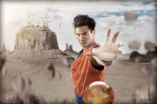 "Son Gohan 3 en ""Light of Hope"" la web-serie"