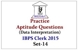 Race IBPS Clerk 2015- Practice Aptitude Questions (Data Interpretation)