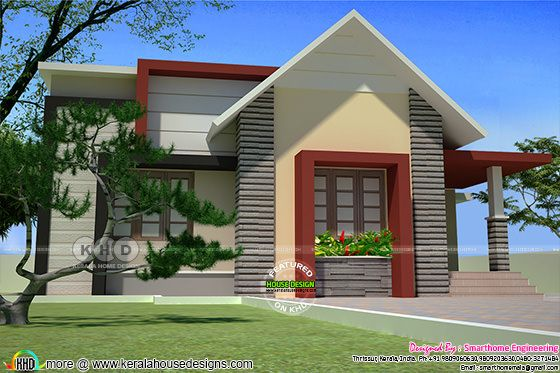 1288 square feet 2 BHK budge home design