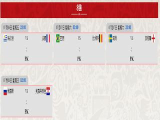 世足賽8強賽程