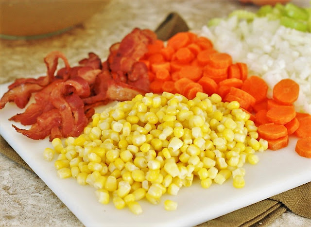Bacon & corn for chicken pot pie image