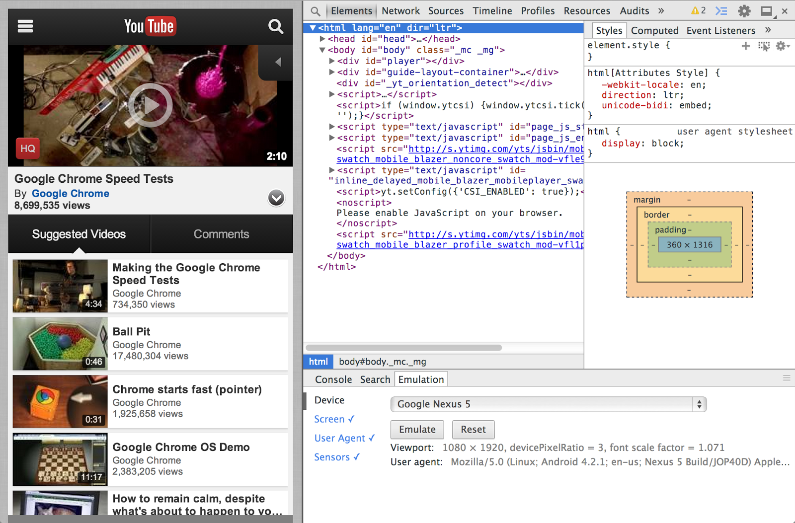 Chromium Blog: Chrome DevTools for Mobile: Emulate and