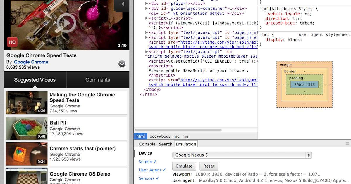 Chromium Blog: Chrome DevTools for Mobile: Emulate and