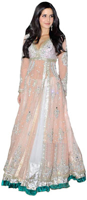 karinee kapoor in pale peach leghna dress