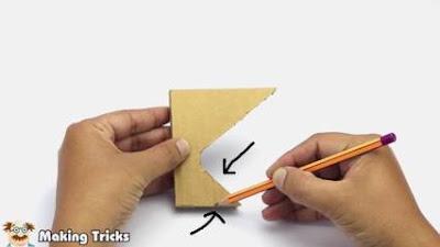 cara membuat sandaran hp dari kardus