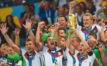 Germany wins the Brazil 2014 World Cup after Beating Argentina 1-0 in extra-time