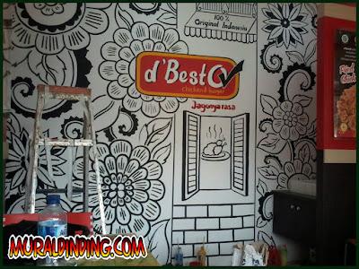 Lukis Dinding Mural Restoran D'Besto Sawangan Depok