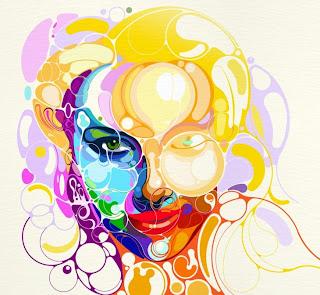 Ilustración de una mujer rubia