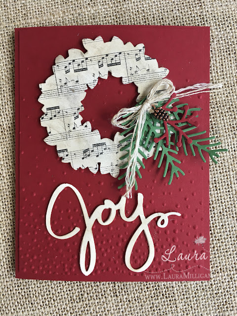 Joyful wreath by Laura Milligan