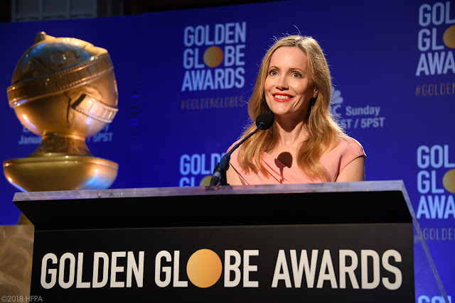 Leslie Mann at the 76th annual Golden Globe Awards nominations on Thursday December 6, 2018 from the Beverly Hilton Hotel in Beverly Hills.