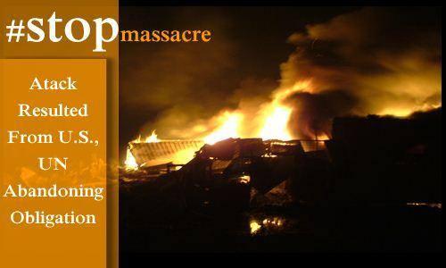 Iran-Iraq,NCRI Statements and  reports:Camp Liberty comes under heavy rocket attack