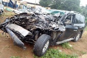 IGP's vehicle in near-fatal accident