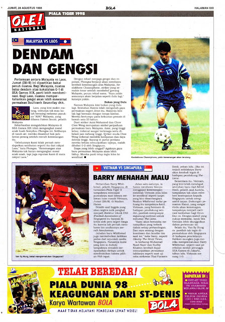 TIGER CUP 1998 MALAYSIA VS LAOS