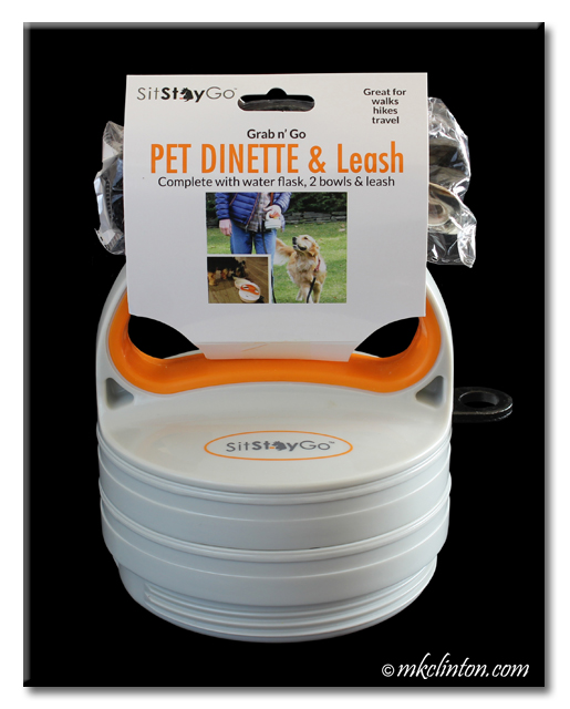 Sit Stay Go Pet Dinette & Leash