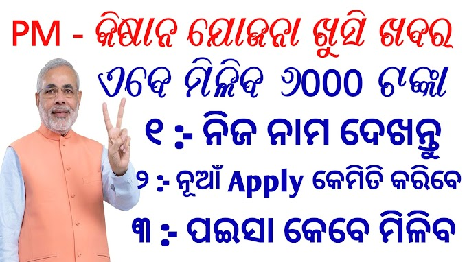 PM Kisan Yojana Full Details Odia How to Know