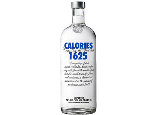 Calorias dos alimentos - Vodka Absolut