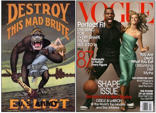 427162075afc8 Por exemplo  em 2008 Gisele posou para a Vogue com o jogador de basquete  James LeBron. Foi o primeiro homem negro a ser capa da revista.