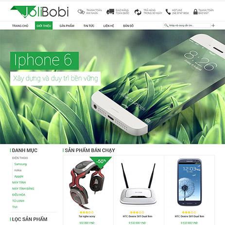 Mẫu web bán hàng đẹp đồ công nghệ
