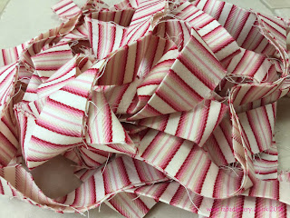 Pink candy striped binding