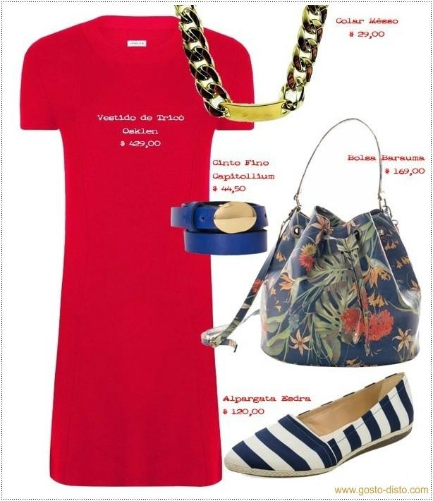 Looks com vestido vermelho