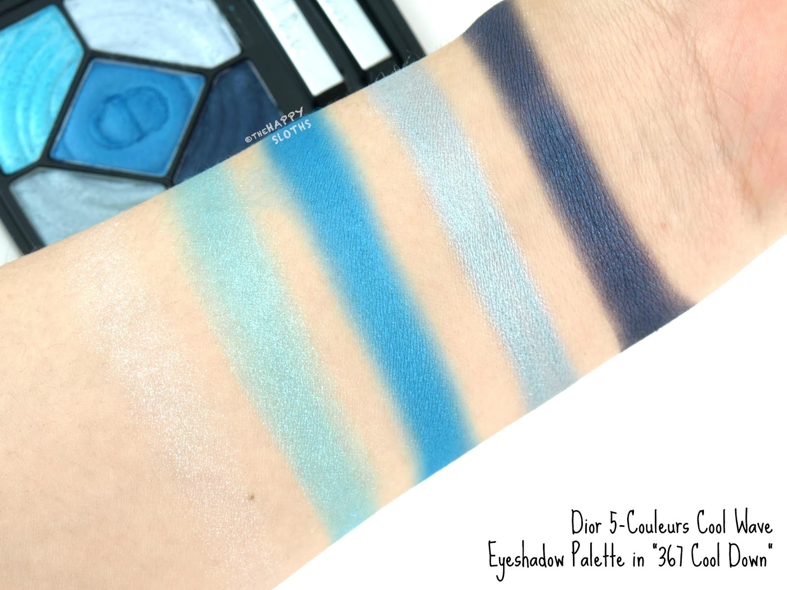 "Dior | Summer 2018 Cool Wave 5-Couleurs Eyeshadow Palette in ""367 Cool Down"": Review and Swatches"