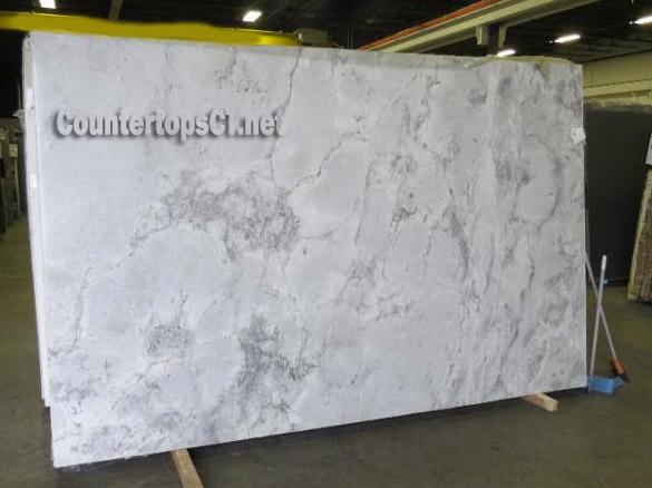 White Vermont quartzite countertops slabs