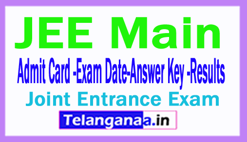 JEE Main 2018 Application Form Exam Dates Eligibility Hall Tickets Results