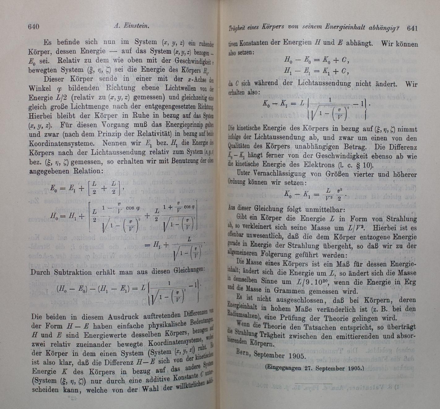 List of scientific publications by Albert Einstein
