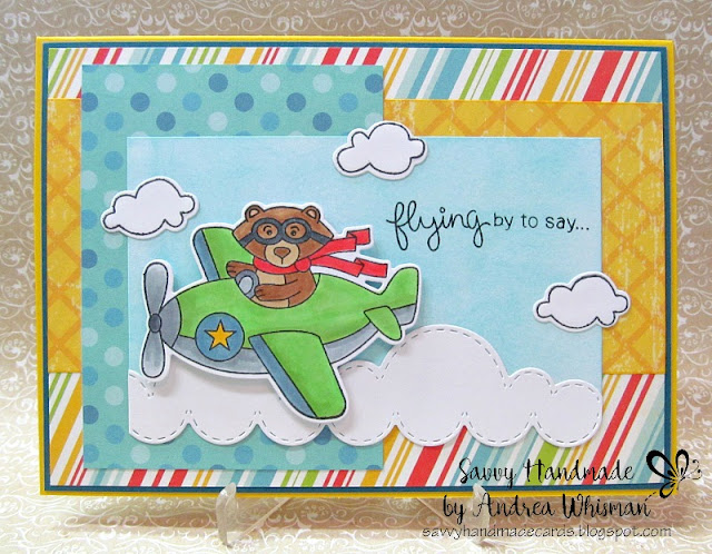 Flying by to say hi by Andrea features Winston Takes Flight by Newton's Nook Designs, #newtonsnook