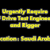 RF Drive Test DT Enginner & Rigger job in Saudi