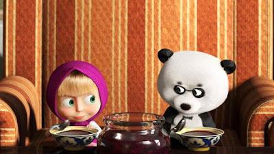 Gambar Wallpaper Masha dan Panda