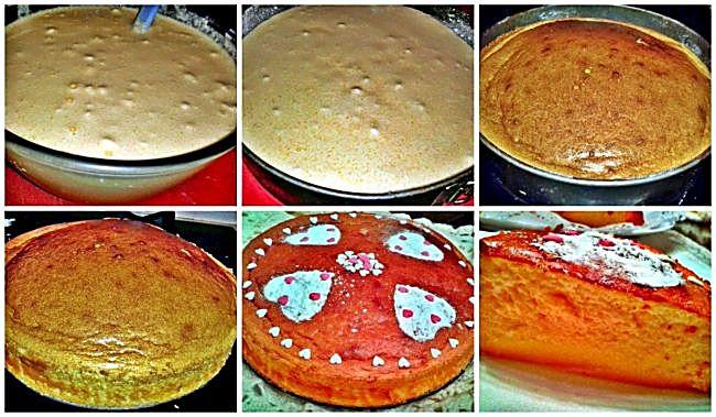 Preparación de la tarta de queso San Valentín