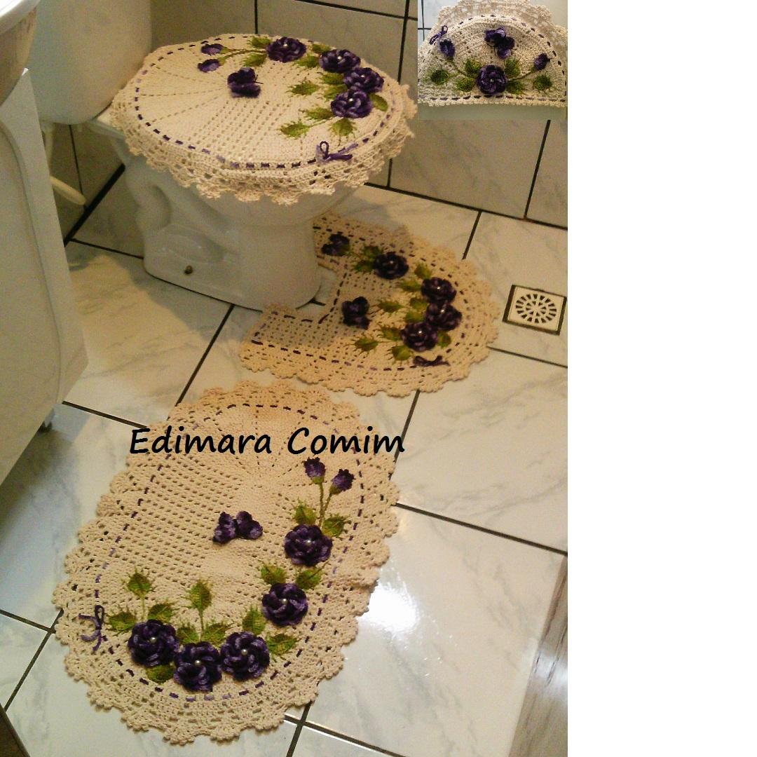 #916D3A Edimara Comim : Jogo de banheiro jardim de rosas com flores roxas 1080x1080 px jardim para banheiro