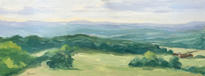 #128 'Surrey Hills' 6×15.5″