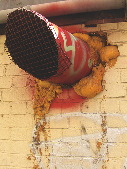 urban photography, red pipe, industrial, industrial art, street art, urban decay, urban photo, Sam Freek, contemporary,