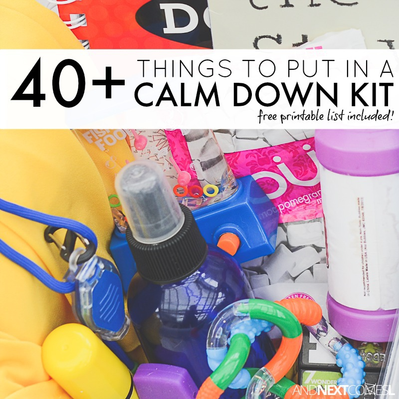 40 things to put in a calm down kit for kids free printable and 40 things to put in a calm down bin or calm down box for kids solutioingenieria Gallery