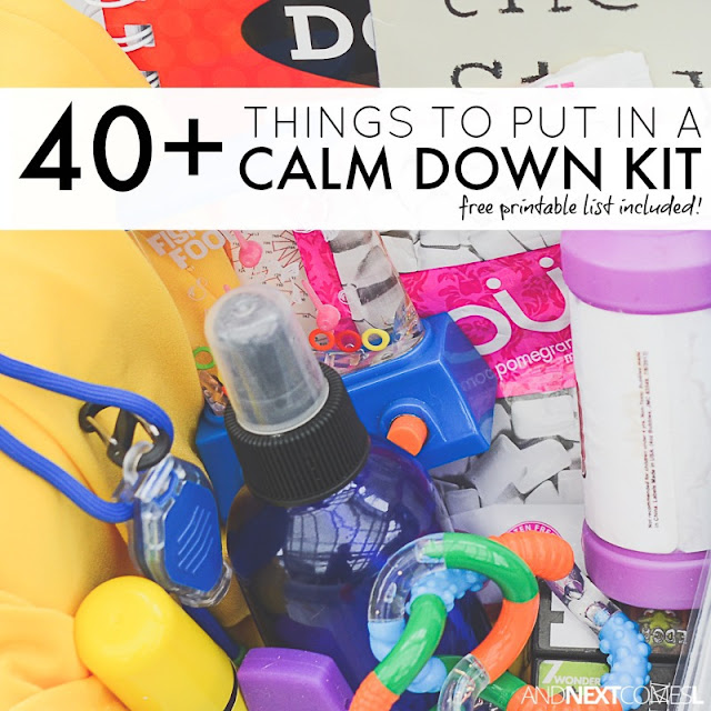 40+ things to put in a calm down kit