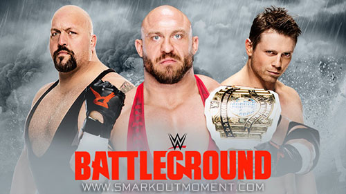 WWE Battleground 2015 Intercontinental Championship Triple Threat Match
